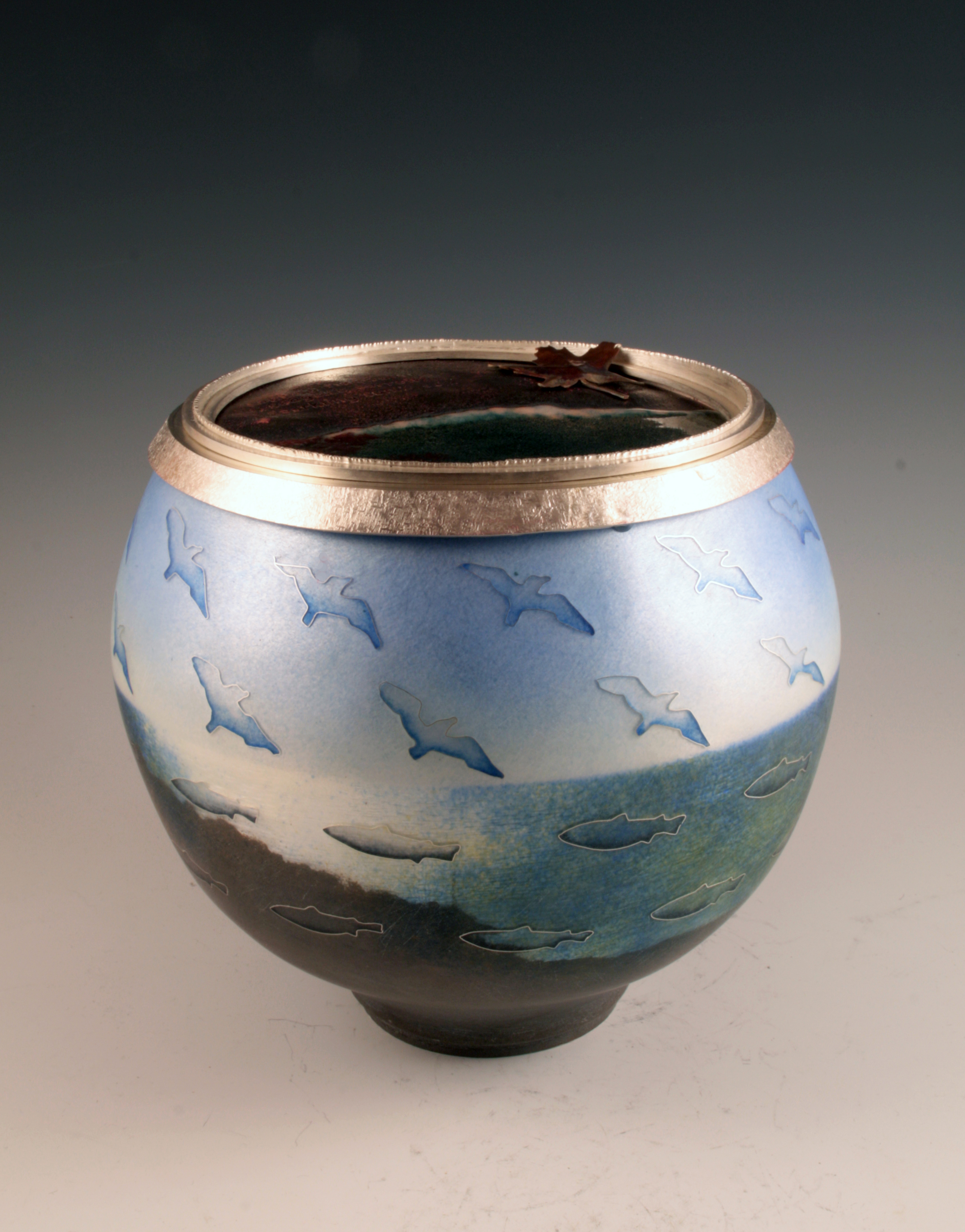 Harlan Butt Acadia Vessel #4, 2015 Silver, enamel and copper Courtesy the artist