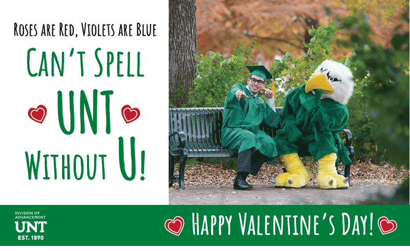 UNT Love Valentine's Day Keen for Mean Green Card 5